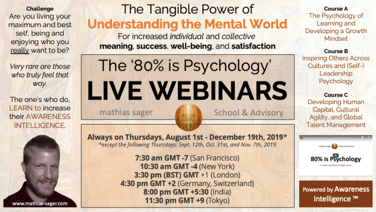 Info webinars Awareness Intelligence