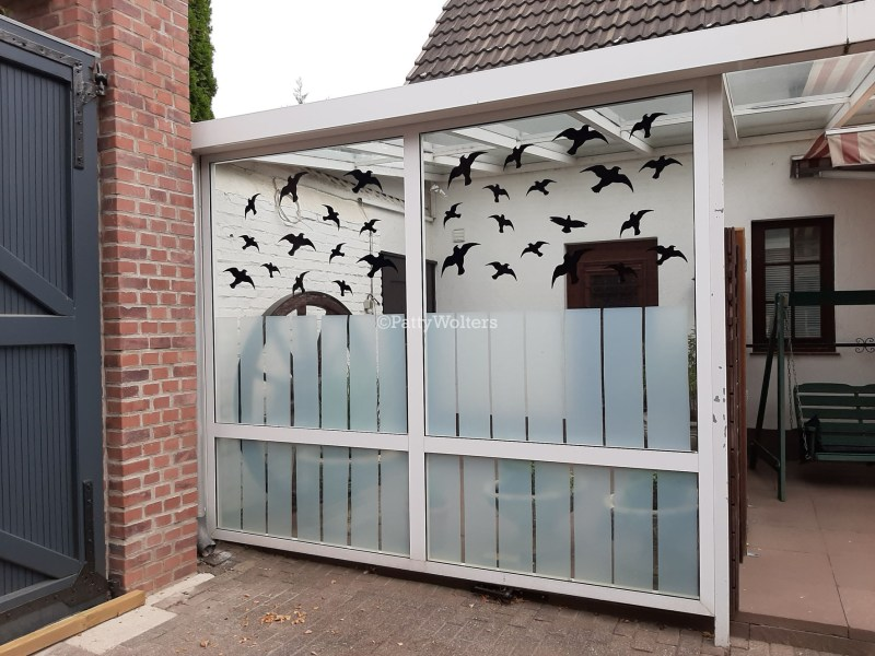 decorations on glass to save birds