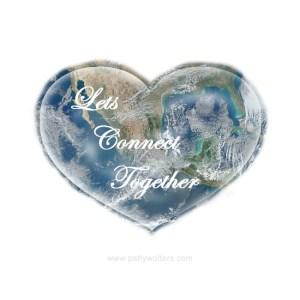 Logo Lets Connect Together Heart shape