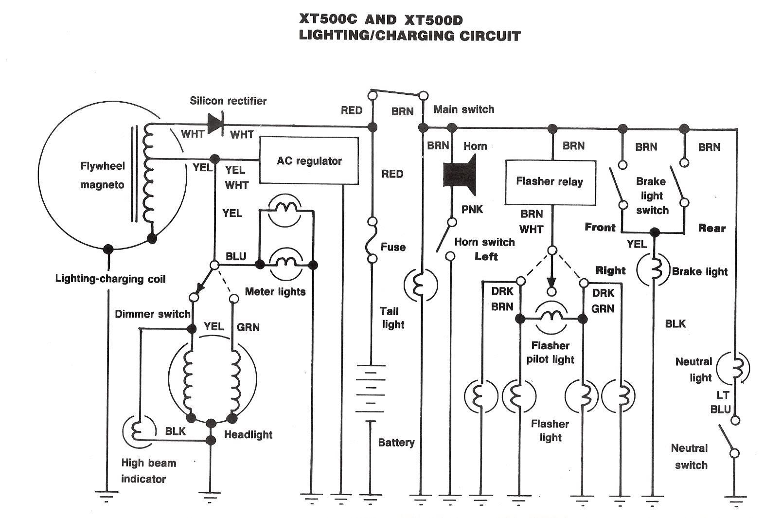 Xt500 Electrical2
