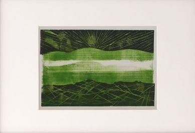 Pejzaz-Ciesnina Gibraltarska-tinta:linoryt-Grafika-2008-mix-M.S.Goralski-in-25,5:17