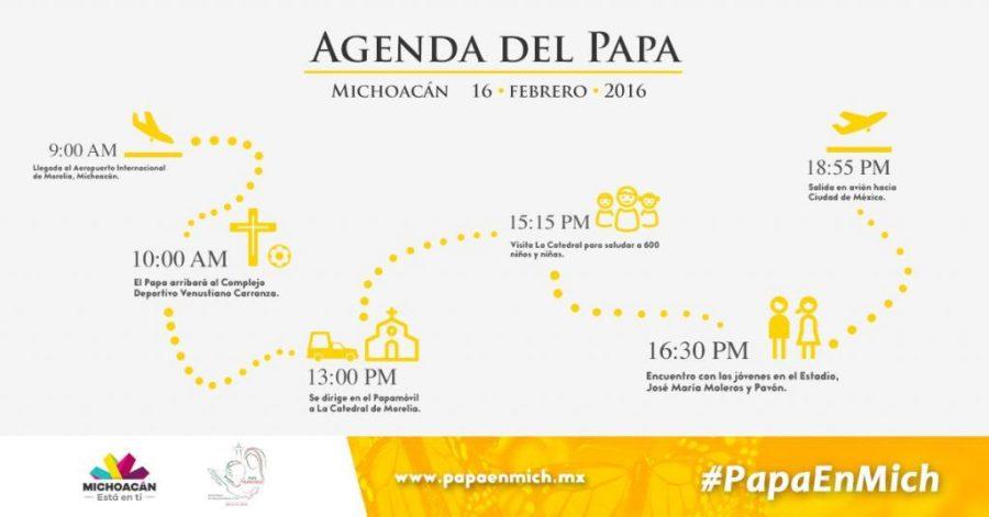 agenda del papa