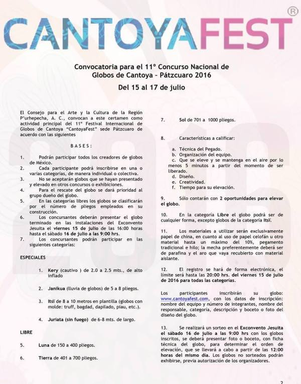 Convocatoria Cantoya Fest