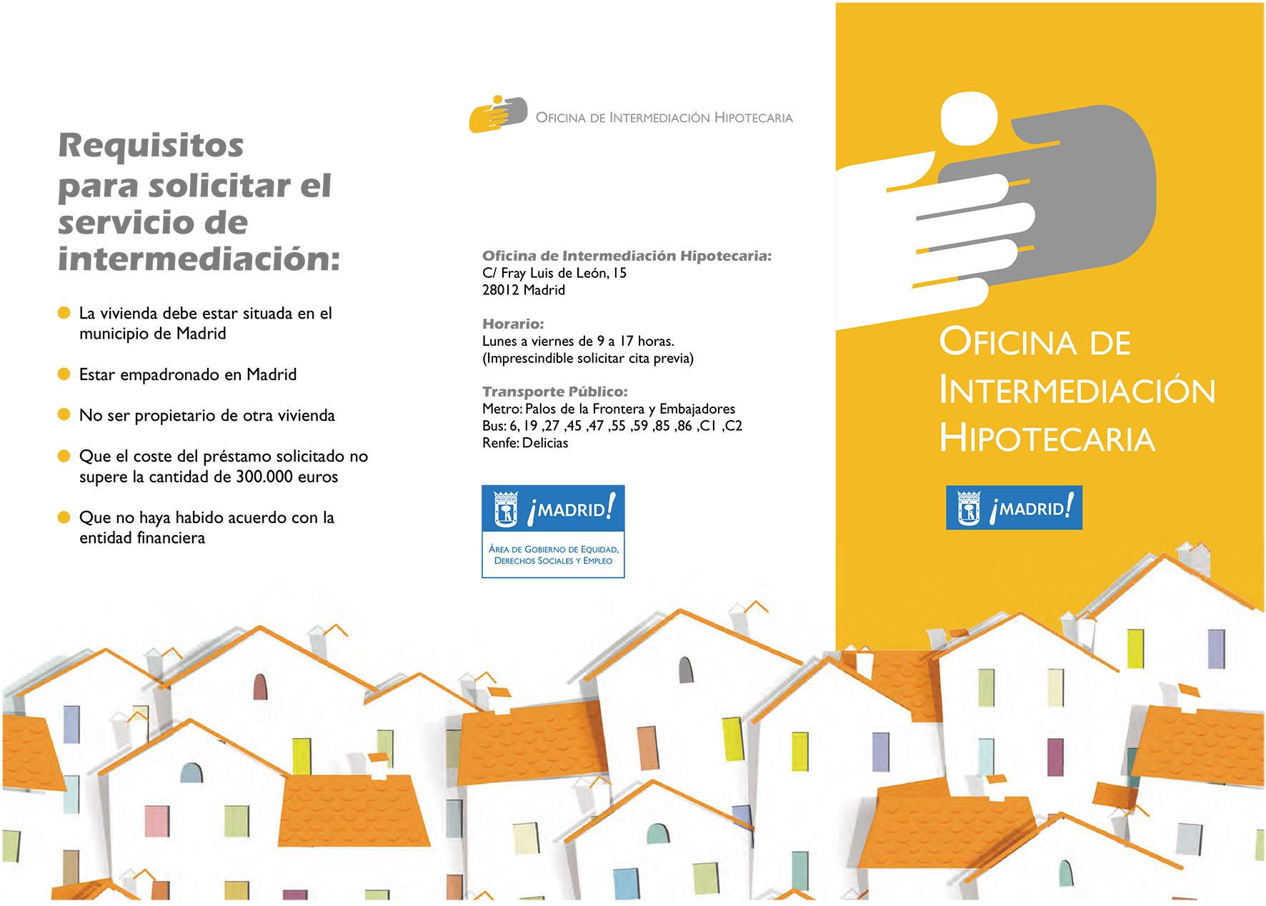 Tríptico oficina intermediación hipotecaria
