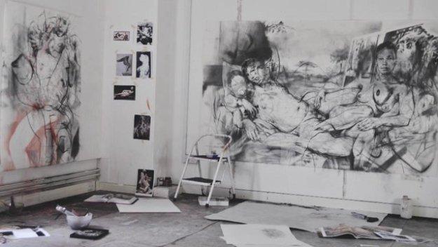 JENNY SAVILLE PAUKF STUDIO atelier bureau estudio art expressionism expresionismo arte
