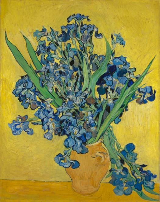 Iris Irises almendro en flor May 1890 Vincent van Gogh en paukf
