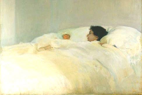 Madre Sorolla Oleo Maternidad Motherhood art arte