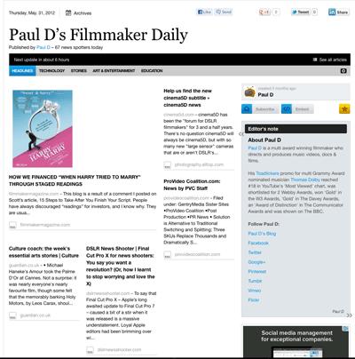 Paul D's Filmmaker Daily
