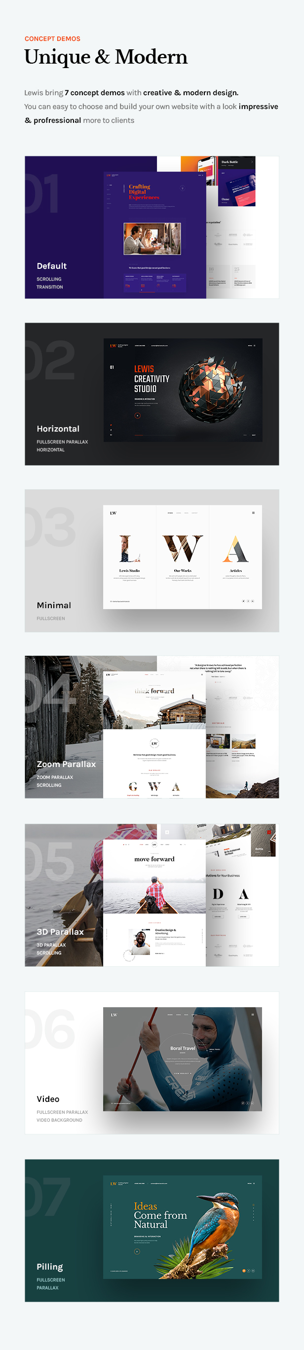 Lewis - Creative Agency Landing Page - 5