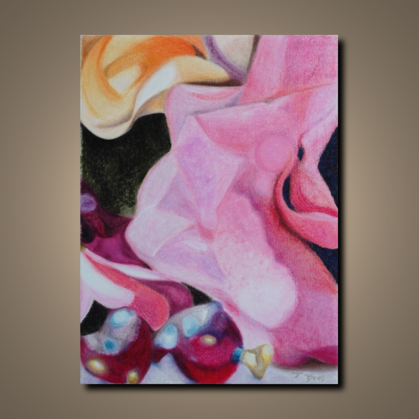 """original abstract oil pastel painting """"Unexpected Pleasantries by Paula Boss"""""""