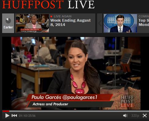 Paula Garces live on Huffington Post