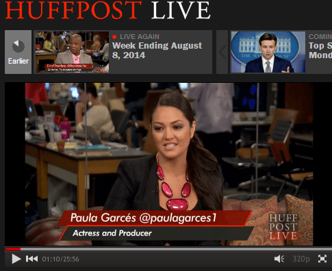 Paula Garces live on Huffington Post