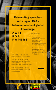 Poster Call Reinventar os discursos e os palcos (English)