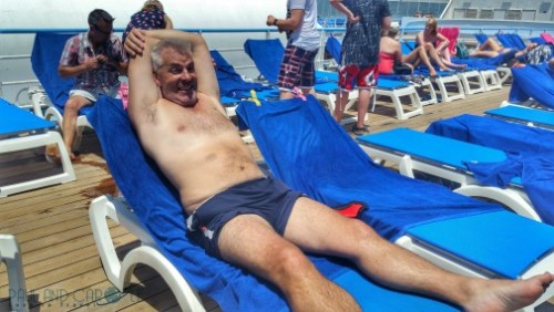 thomson dream cruise ship sunbathing sun deck