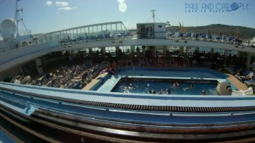 thomson dream cruise ship swimming pool sun deck information review