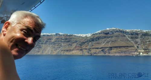 fira thira in santorini here is our cruise port review with information of this beautiful greek island of the Cyclades in the Aegean Sea Greece
