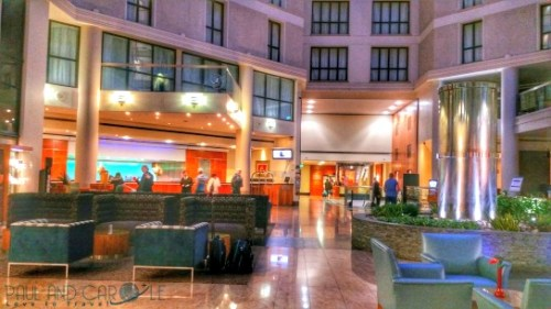 The lobby at the Sofitel Hotel London Gatwick Airport