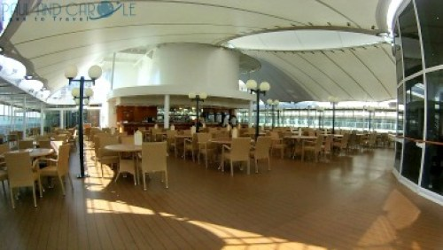 Il Patio restaurant and bar msc opera cruise ship cruising