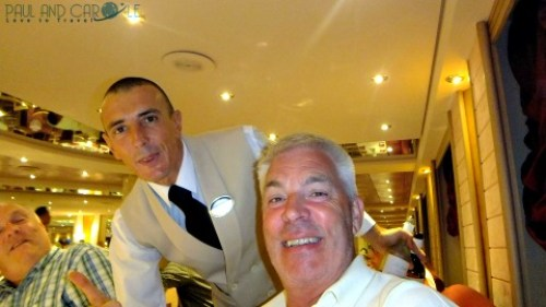 Paulo and paul dining L'approdo restaurant msc opera druise dinner