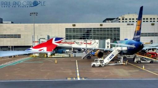 Sofitel Hotel London Gatwick Airport runway view virgin atlantic