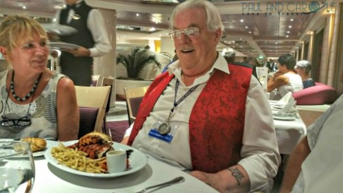 Lobster dinner in L'approdo Restaurant msc opera cruise cruising dinner food