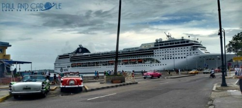 MSC Opera docked in Havana cruising
