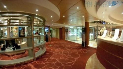 Shopping on the MSC Opera cruise ship cruising