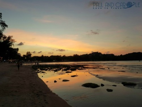 Guide to the best beautiful beaches of Koh Samui Thailand by Paul and Carole amazing sunset choeng mon beach