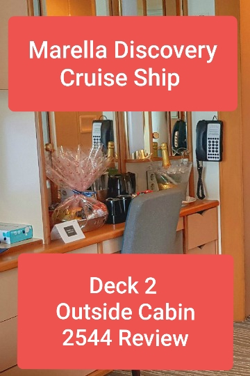 We spent two weeks in an outside cabin on the Marella Discovery Cruise Ship.  We were allocated cabin 2544 on Deck 2, and here is our comprehensive review to see if this cabin would suit you. #cabin #marella #review #2544 #deck #rwo #discovery #cruise #ship #cruising #stateroom #paul #carole #love #travel