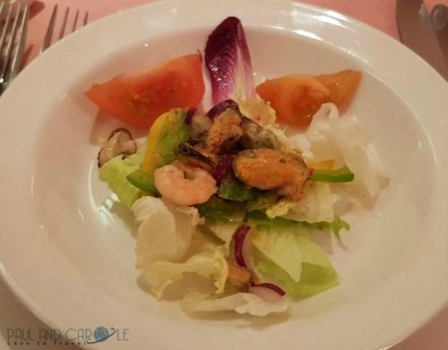 CMV Marco Polo Cruise ship seafood salad starter #CMV #cruising #maritime #voyages #marcopolo #marco #polo #cruise #reviews #seafood #starter #waldorf #restaurant