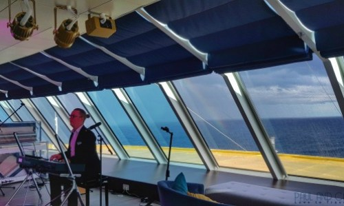 Indigo Lounge on the Marella Explorer 2 Cruise Ship Review #indigo #lounge #cruise #ChooseCruise #cruising #marella #MarellaExplorer2 #TUI