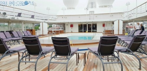 silversea cruises silver cloud cruise ship pool deck sun loungers expedition cruises #silversea #cruises #thisissilversea #expedition #cruising