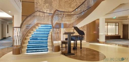 Liiving room and spectacular stair case #cruise #saga #cruises #SpiritofDiscovery #SagaHolidays #SagaUk