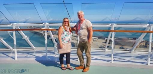 Sun decks Paul and Carole Saga new cruise ship spirit of discovery cruise ship review #saga #cruises #spirit #discovery #SpiritOfDiscovery