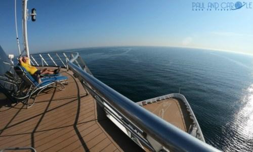 Fred Olsen Braemar cruise ship upper sun deck view.#fredolsen #fredolsencruiseline #braemar #cruiseship #choosecruise #cruising #cruise