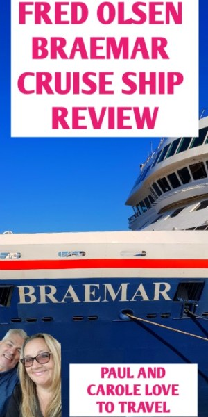 Braemar Cruise Ship review blog post. Find out if this ship is for you! This was our first Fred Olsen Cruise and it certainly will not be our last!  #FredOlsen #cruising #Braemar #cruises #fredolsencruises #cruisingwithfred #choosecruise