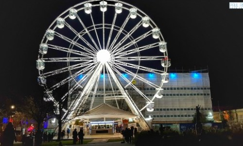 the observation wheel at the imperial gardens at light up Cheltenham #bigwheel #observationwheel #imperialgardens #cheltenham #paulandcarole