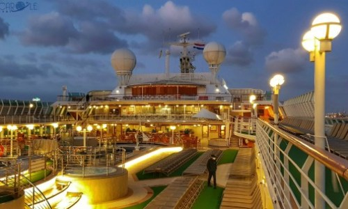 P&O Oceana Cruise Ship -  rivera bar on the sun deck #P&O #P&O Oceana P&O cruises #europeancruiseports #cruises #shiplife #sundeck #relaxation #nighttime