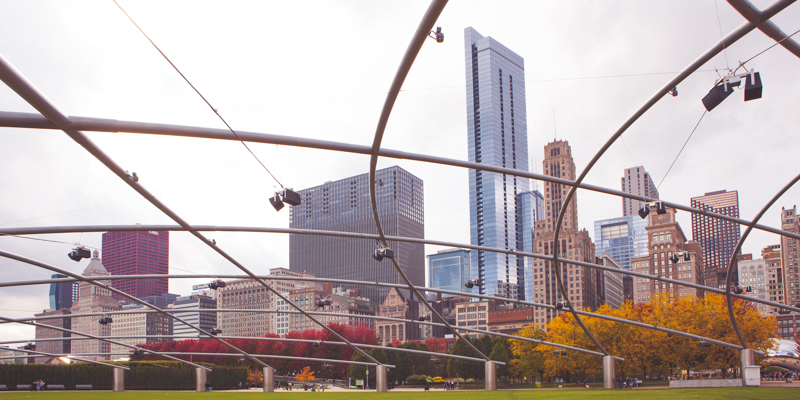 Fall & Autumn in Chicago Millennium Park