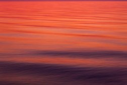 Sunset Waves Long Exposure Photography