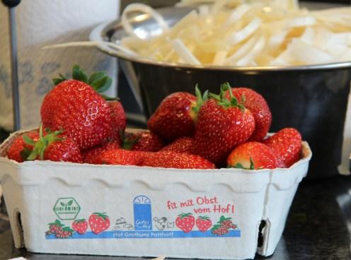 Die Erdbeeren sind mit dem Münsterland-Siegel ausgezeichnet.