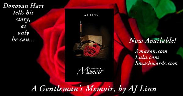 New release banner for A Gentleman's Memoir by AJ Linn