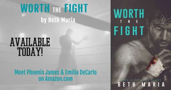 Facebook-size Banner for the Release of Worth The Fight, a novel by Beth Maria