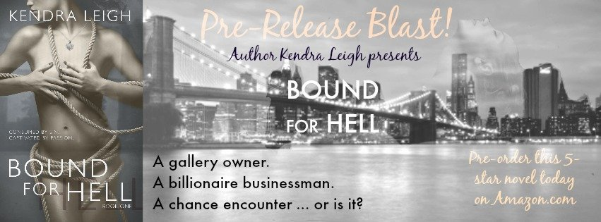 Photo banner with the cover of Bound For Hell against a backdrop of the NYC skyline