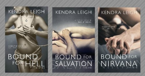 Book cover images for all three books in the Bound Trilogy by Kendra Leigh