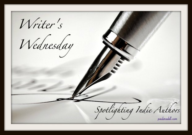 Promotion for Writer's Wednesday on Passionate Reads, photo of a pen writing calligraphy