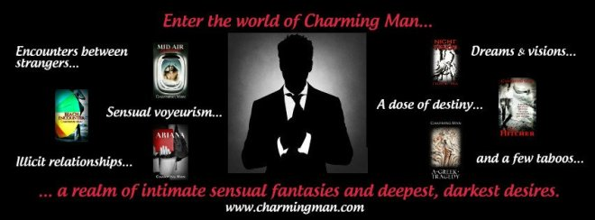 Photo banner showing the avatar for Charming Man and photos of each story in First Encounters