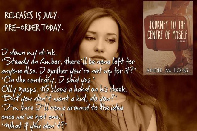 A quote and teaser from a scene in Journey to the Centre of Myself, by Andie M. Long