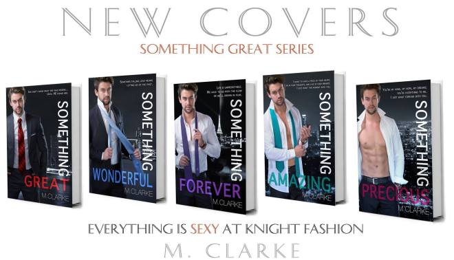 Something Great series, banner ad for the novel by M. Clarke