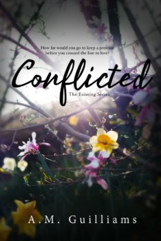 Book Cover, Conflicted, by A M Guilliams